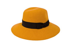 Sombrero de la mostaza aislado en el fondo blanco Fotografía de archivo libre de regalías