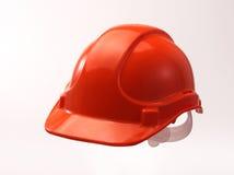 Sombrero anaranjado de la construcción Imagen de archivo libre de regalías