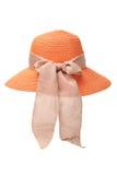 Sombrero anaranjado de las señoras Imagen de archivo libre de regalías