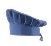 Sombrero azul del cocinero Foto de archivo libre de regalías
