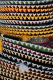 Sombrero Background. Sombreros from the Mexican Market Royalty Free Stock Image