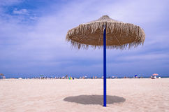 Sombrero on the Beach. Spanish Sombrero on the beach in Valencia, Spain Stock Images