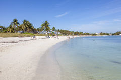 Sombrero beach at the Marathon Key, Florida. Marathon Key, Fl, USA - March 16, 2017: Beautiful white sand Sombrero beach at the Marathon Key in Florida, United Royalty Free Stock Image