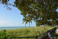 Sombrero Beach Park. Scenic beach in Marathon Florida Keys Royalty Free Stock Images