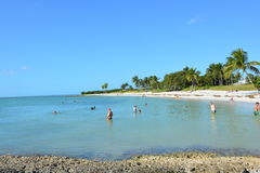 Sombrero Beach. Poeple enjoying the beach in Marathon Florida Keys Stock Image