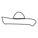 Sombrero black color icon . Stock Images
