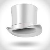 Sombrero blanco del getleman Fotos de archivo libres de regalías