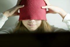 Sombrero, cabeza, niño Imagen de archivo