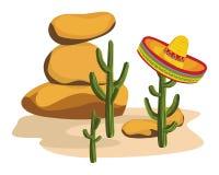 Sombrero on Cactus Stock Photography