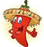 Sombrero Chili Pepper Thumbs Up royalty free illustration