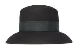 Sombrero clásico de las mujeres negras Fotografía de archivo libre de regalías