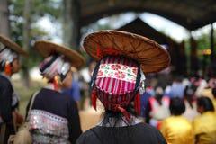 Sombrero colorido de la tribu de la colina Fotos de archivo libres de regalías