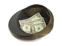 Sombrero con el dinero Imagen de archivo