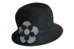 Sombrero con la flor Imágenes de archivo libres de regalías