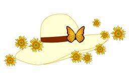 Sombrero con las flores Imágenes de archivo libres de regalías