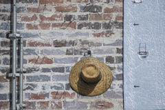 Sombrero con los tubos Imagen de archivo