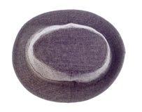 Sombrero con un borde aislado en blanco Fotos de archivo libres de regalías