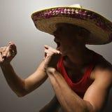Sombrero da portare dell'uomo di Dancing. Fotografie Stock