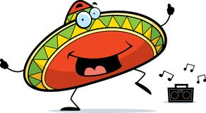Sombrero Dancing Royalty Free Stock Images
