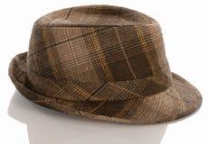 Sombrero de ala de la tela escocesa Fotos de archivo libres de regalías