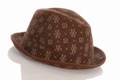 Sombrero de ala del Mens Imagenes de archivo
