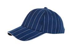 Sombrero de béisbol azul aislado fotografía de archivo