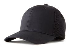 Sombrero de béisbol negro Imagen de archivo libre de regalías