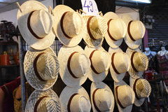 Sombrero de bambú Foto de archivo