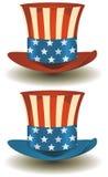 Sombrero de copa de los tío Sam por días de fiesta americanos Imágenes de archivo libres de regalías