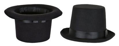 Sombrero de copa mágico usado por el mago aislado Imágenes de archivo libres de regalías