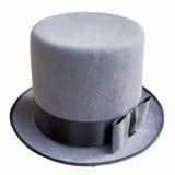 Sombrero de copa masculino aislado Fotografía de archivo