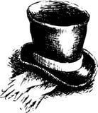 Sombrero de copa y guantes ilustración del vector
