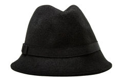 Sombrero de fieltro femenino labrado retro Fotografía de archivo