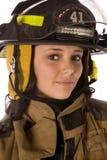 Sombrero de Firewoman Imagen de archivo libre de regalías