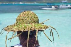 Sombrero de hoja de palma foto de archivo