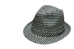 Sombrero de Houndstooth Fotografía de archivo libre de regalías