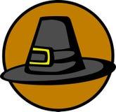 Sombrero de la acción de gracias del peregrino stock de ilustración