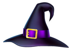 Sombrero de la bruja de Halloween de la historieta Imagenes de archivo
