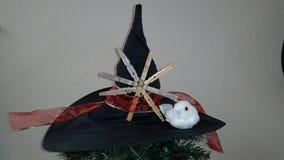 Sombrero de la bruja de la Navidad fotografía de archivo