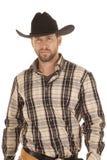 Sombrero de la camisa rayada Imagen de archivo libre de regalías