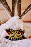 Sombrero de la gente de Orang-ulu imagenes de archivo