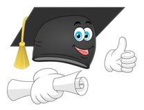 Sombrero de la graduación de la historieta Fotos de archivo