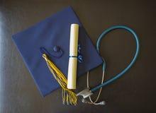 Sombrero de la graduación Fotografía de archivo libre de regalías