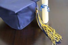 Sombrero de la graduación Fotografía de archivo