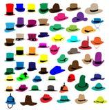 Sombrero de la manera de las siluetas Fotografía de archivo