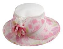 Sombrero de la mujer aislado en el fondo blanco Sombrero de la playa del ` s de las mujeres Co Imagen de archivo