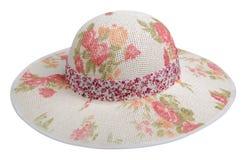 Sombrero de la mujer aislado en el fondo blanco Sombrero de la playa del ` s de las mujeres Co Imágenes de archivo libres de regalías