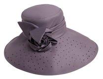 Sombrero de la mujer aislado en el fondo blanco Sombrero de la playa del ` s de las mujeres PU Foto de archivo