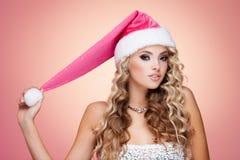 Sombrero de la Navidad Fotografía de archivo libre de regalías