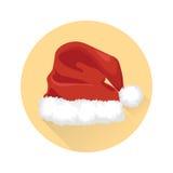 Sombrero de la Navidad de Papá Noel Foto de archivo libre de regalías